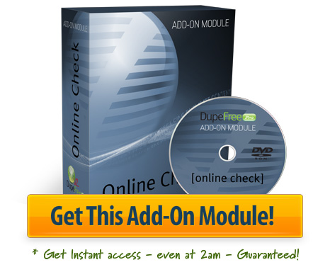 Get The Online Check Add-On Module Now!