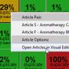 Articles Options Menu