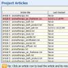 Project Articles Window